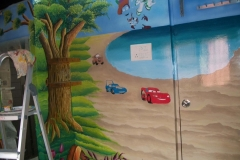 3D-CAR-PAINTING-IN-BOY-ROOM
