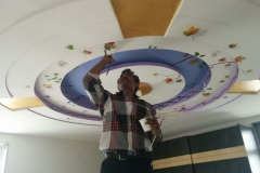 3D-LEAF-ART-ON-FALSE-CEILING