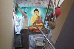 LORD-BUDHA-WALL-ART-AT-STAIR-CASE
