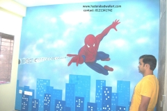 Spiderman-Spray-Art-For-BOY-ROOM