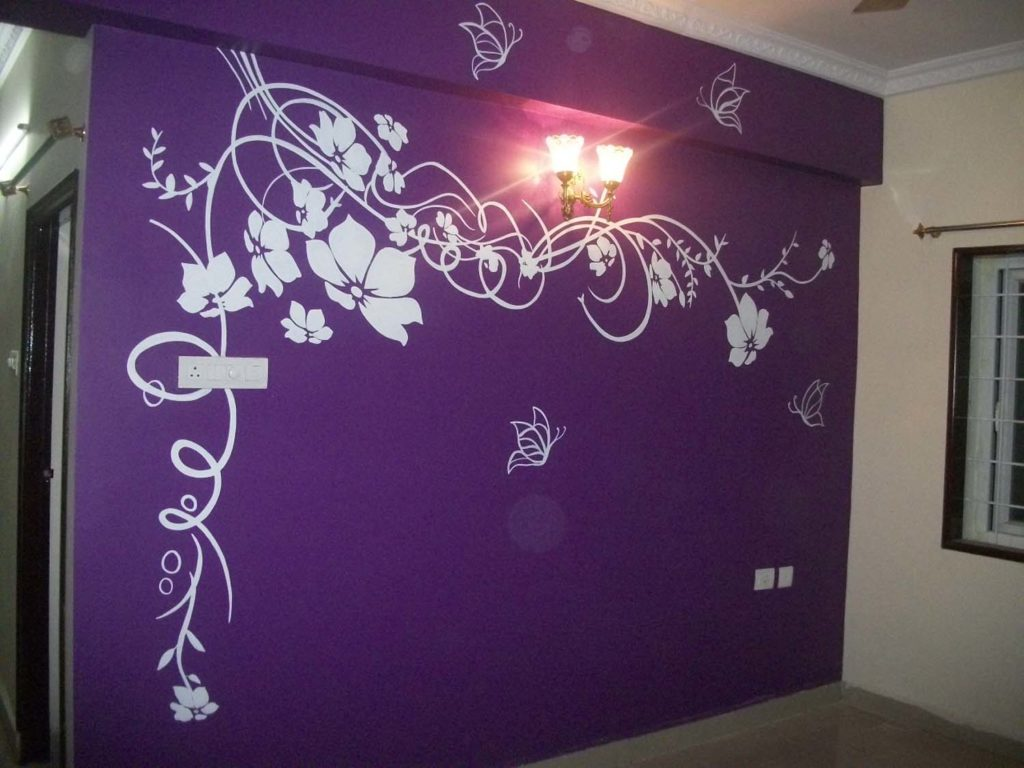 PURPLE COLOUR BACK ART